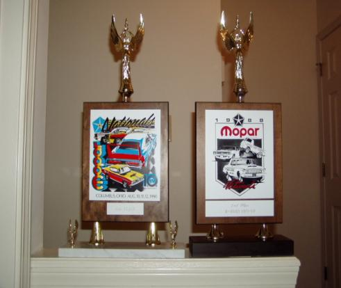 Trophies from the Nationals